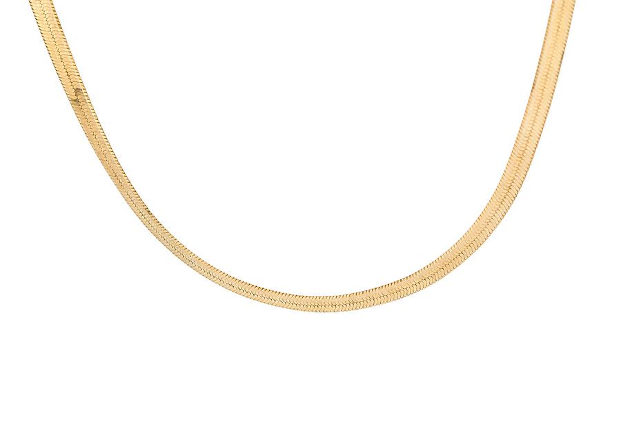 Αλυσίδα Ασημένια πλακέ φίδι AS319G
