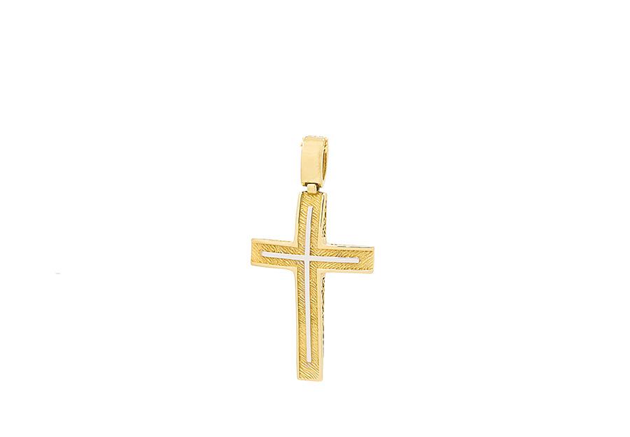 Βαπτιστικός Χρυσός Σταυρος κ14 CG1335W