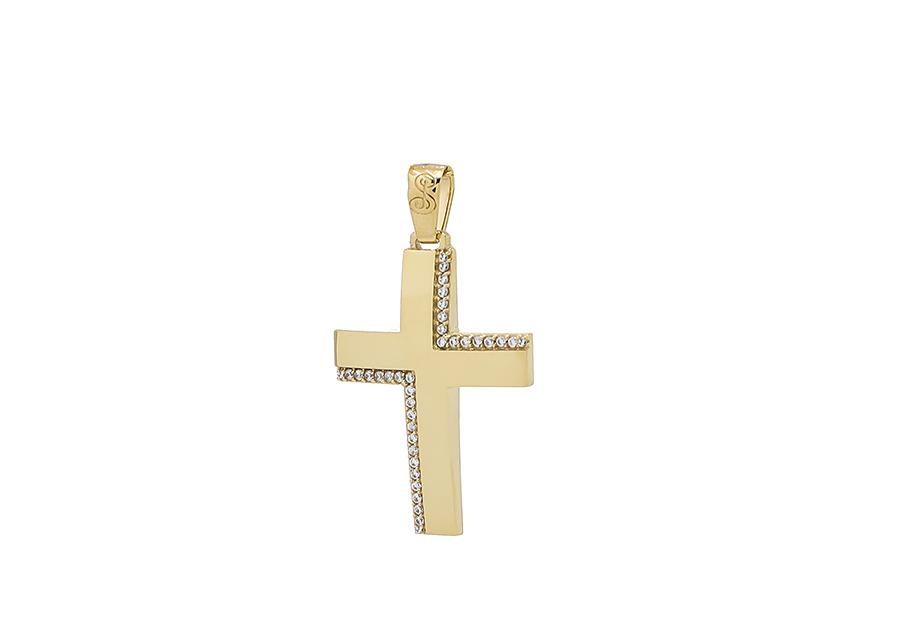 Βαπτιστικός Χρυσός Σταυρός κ14 CP111