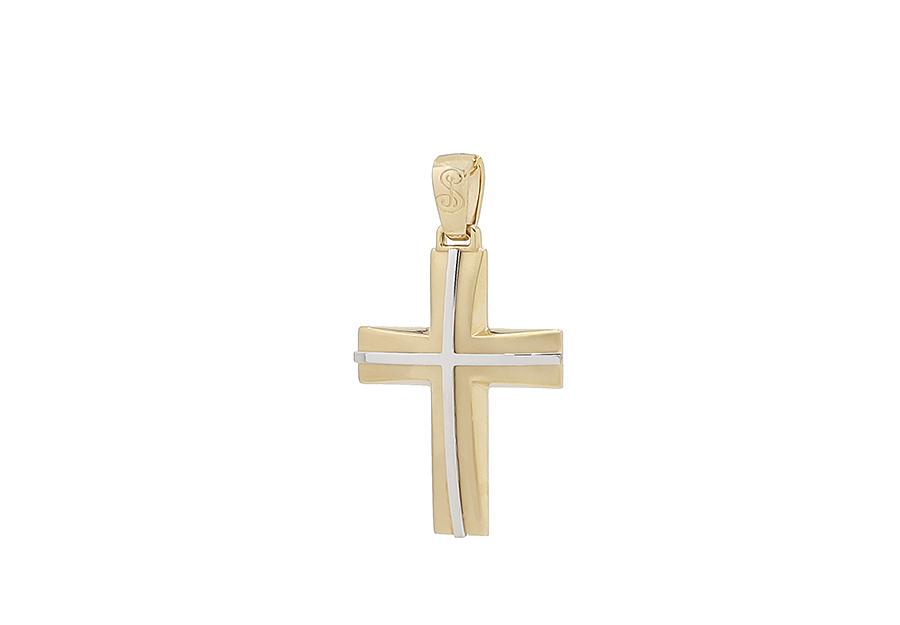 Βαπτιστικός Χρυσός Σταυρός κ14 CP113