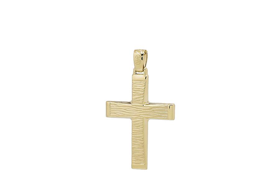Βαπτιστικός Χρυσός Σταυρός κ14 CP114