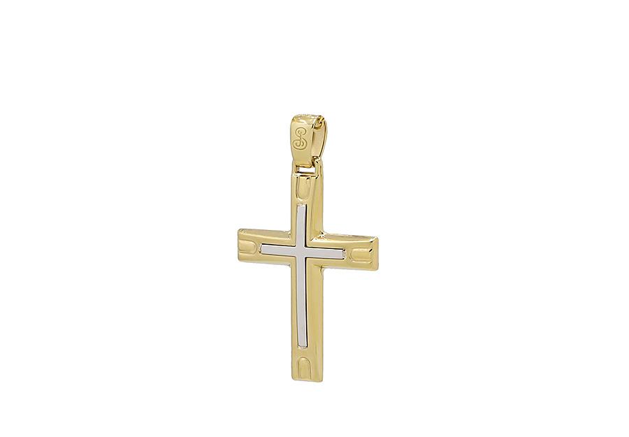 Βαπτιστικός Χρυσός Σταυρός κ14 CP115