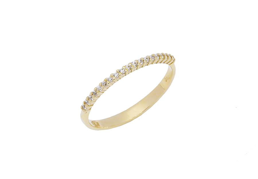 Δαχτυλίδι Μισόβερο Χρυσό 14Κ KA503G