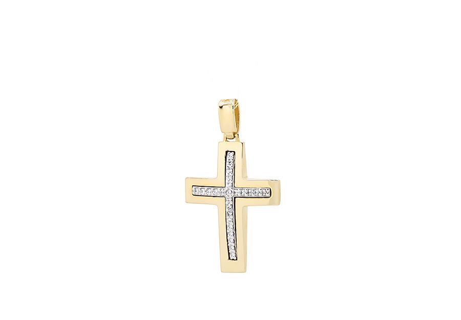 Βαπτιστικός Χρυσός Σταυρός κ14 CG1278