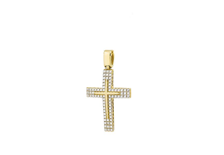 Βαπτιστικός Χρυσός Σταυρος κ14 CG1345