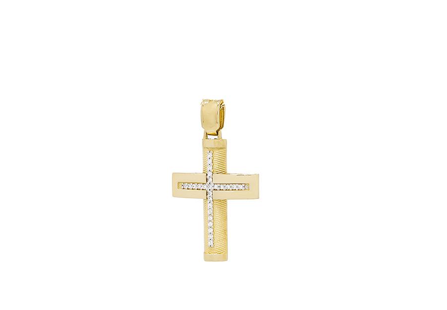 Βαπτιστικός Χρυσός Σταυρός κ14 CG1447