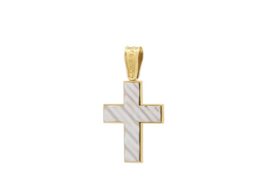 Βαπτιστικός Χρυσός Σταυρός κ14 CG1887