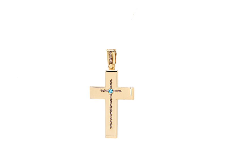 Βαπτιστικός Χρυσός Σταυρος κ14 LM13057