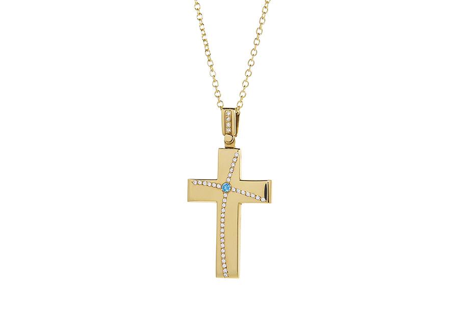 Βαπτιστικός Χρυσός Σταυρος κ14 LM13017