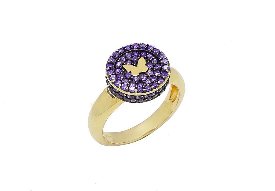 Ασημένιο Δαχτυλίδι 925 TR1129-G