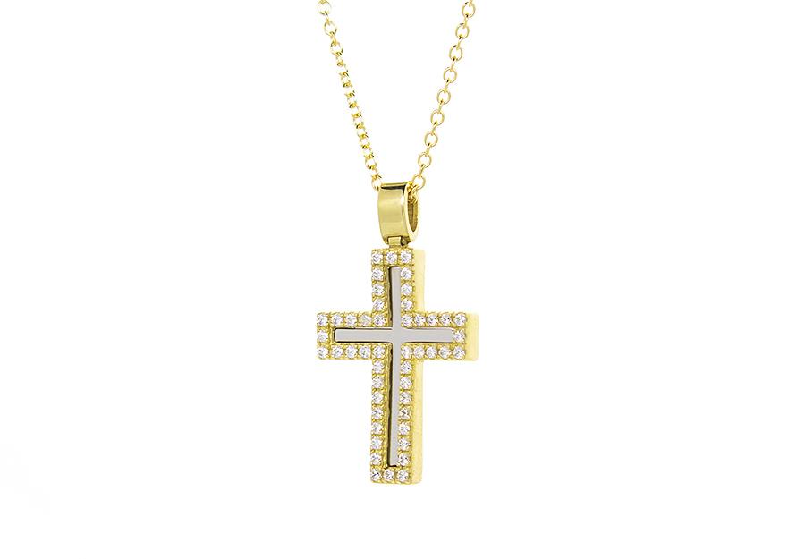 Βαπτιστικός Χρυσός Σταυρος κ14 VG2119G