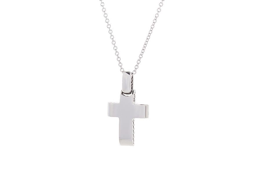 Βαπτιστικός Λευκόχρυσος Σταυρός κ14 VG2157W