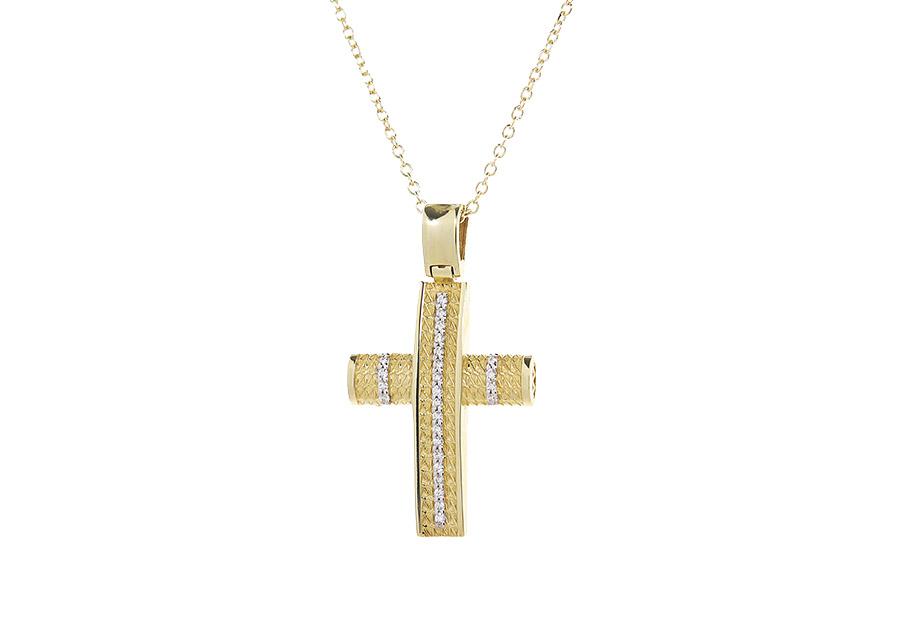 Βαπτιστικός Χρυσός Σταυρος κ14 VG2237G