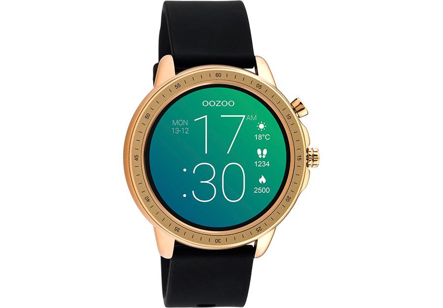 OOZOO Smartwatch Black Rubber Strap Q00303