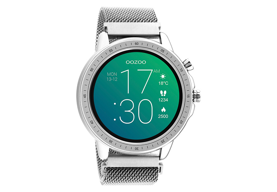 OOZOO Smartwatch Silver Metal Mesh Bracelet Q00305