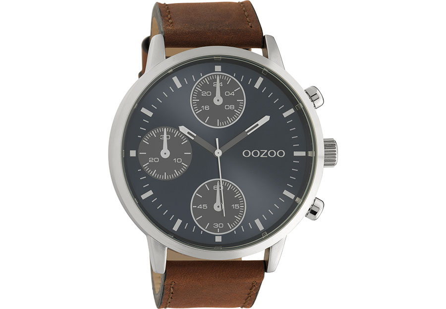 OOZOO Timepieces Brown Leather Strap C10665
