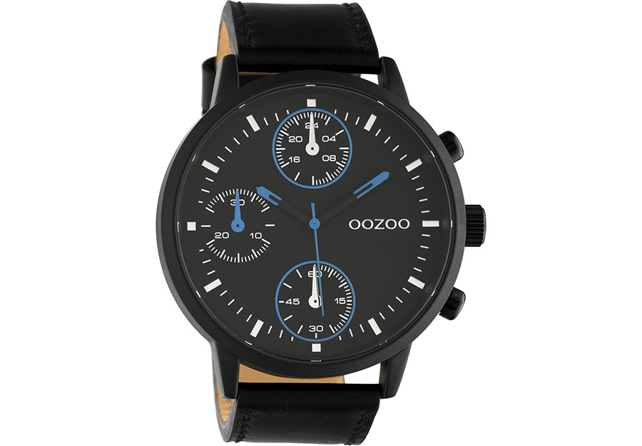OOZOO Timepieces Black Leather Strap C10669