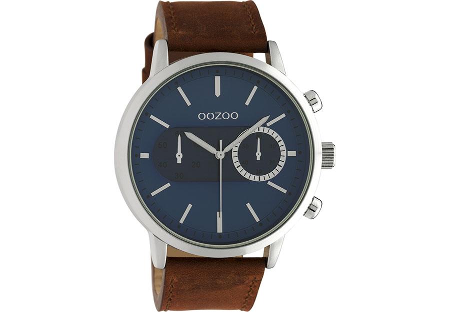 OOZOO Timepieces Brown Leather Strap C10670
