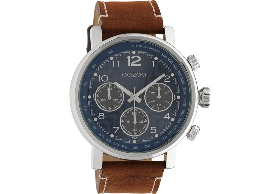 OOZOO Timepieces Brown Leather Strap C10671