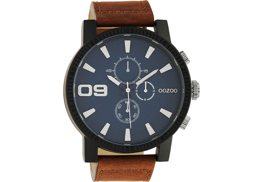OOZOO Timepieces Brown Leather Strap C10672