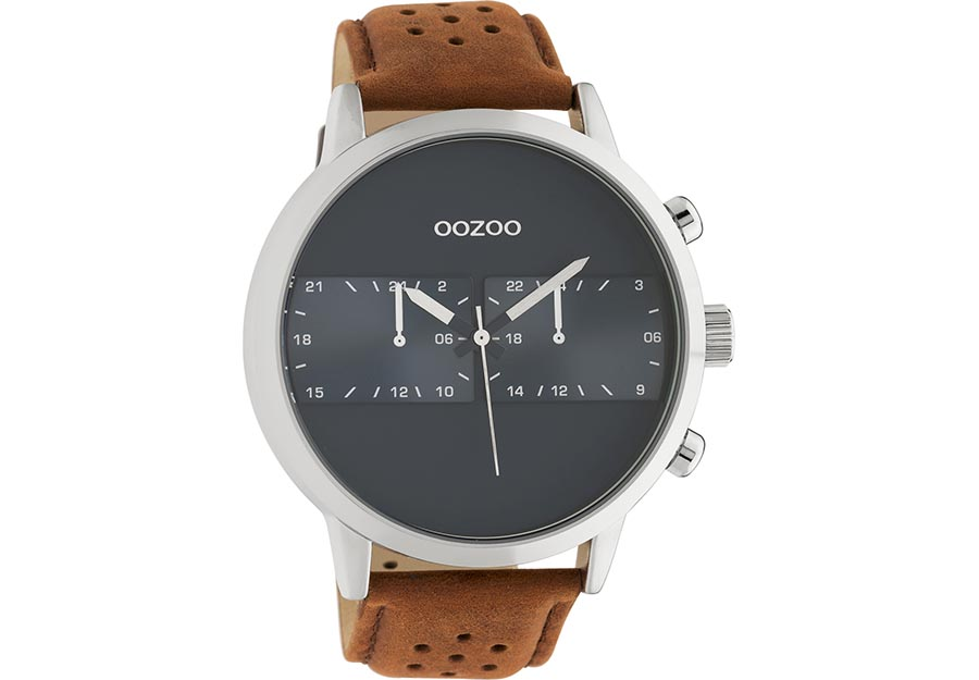 OOZOO Timepieces Brown Leather Strap C10673
