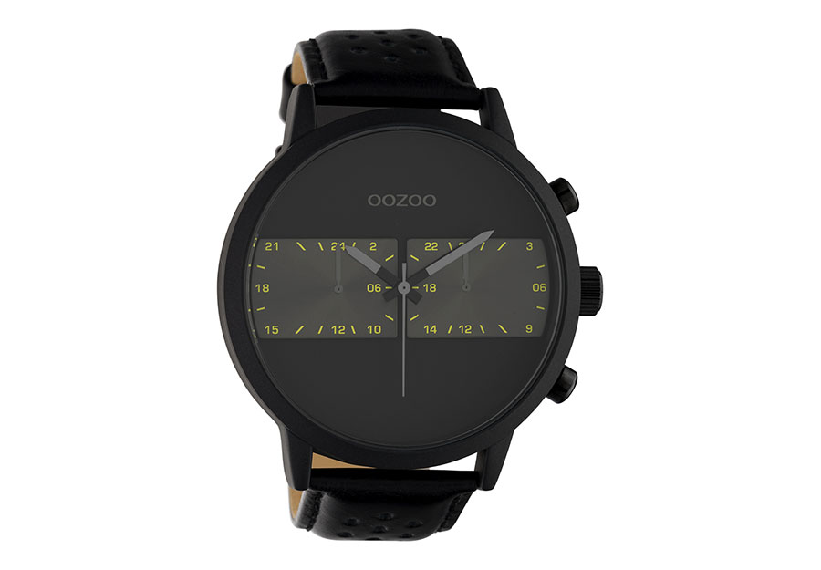OOZOO Timepieces Black Leather Strap C10674