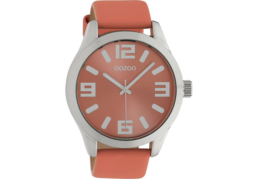 OOZOO Timepieces Orange Leather Strap C10675