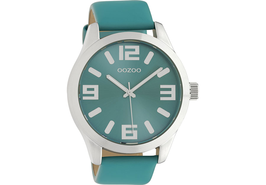 OOZOO Timepieces Turquoise Leather Strap C10676