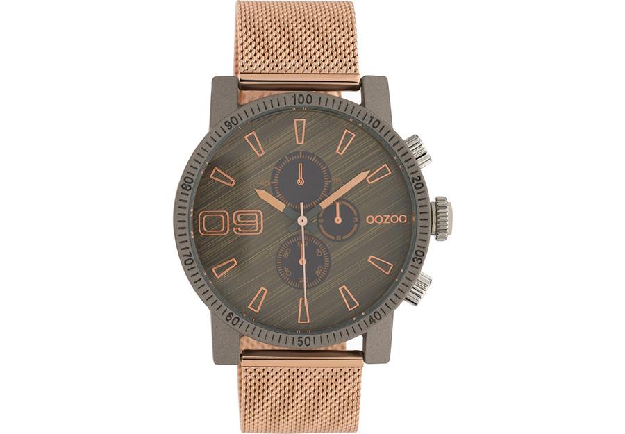 OOZOO Timepieces Rose Gold Metallic Mesh Bracelet C10685