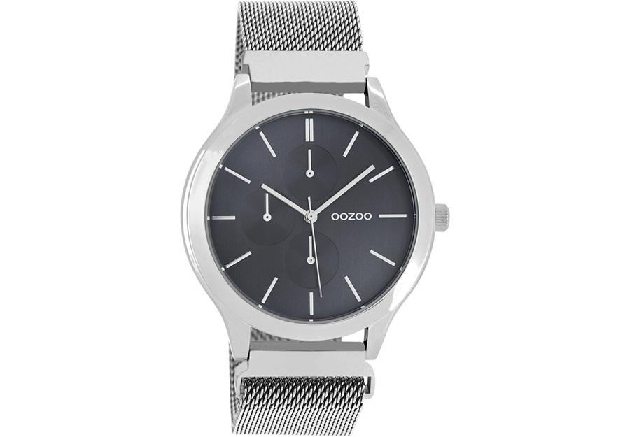 OOZOO Timepieces Silver Metallic Mesh Bracelet C10686