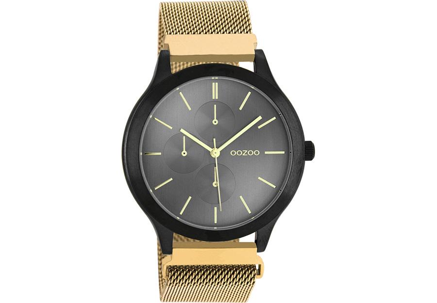 OOZOO Timepieces Gold Metallic Mesh Bracelet C10689