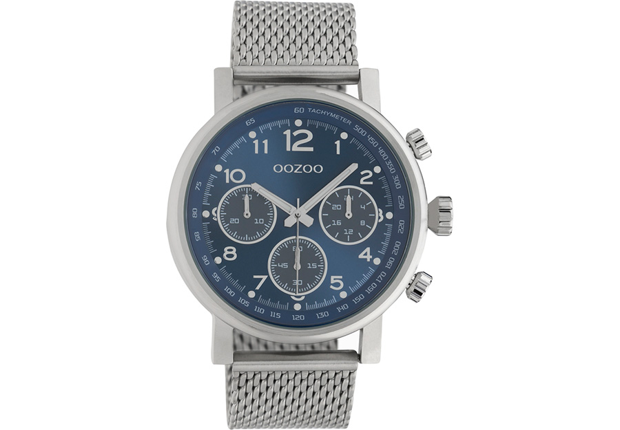 OOZOO Timepieces Chronograph Silver Metallic Bracelet C10700