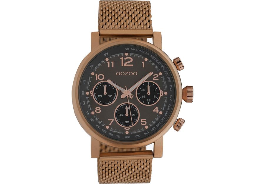 OOZOO Timepieces Chronograph Brown Metallic Bracelet C10702