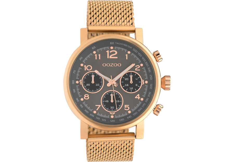 OOZOO Timepieces Chronograph Gold Metallic Bracelet C10703