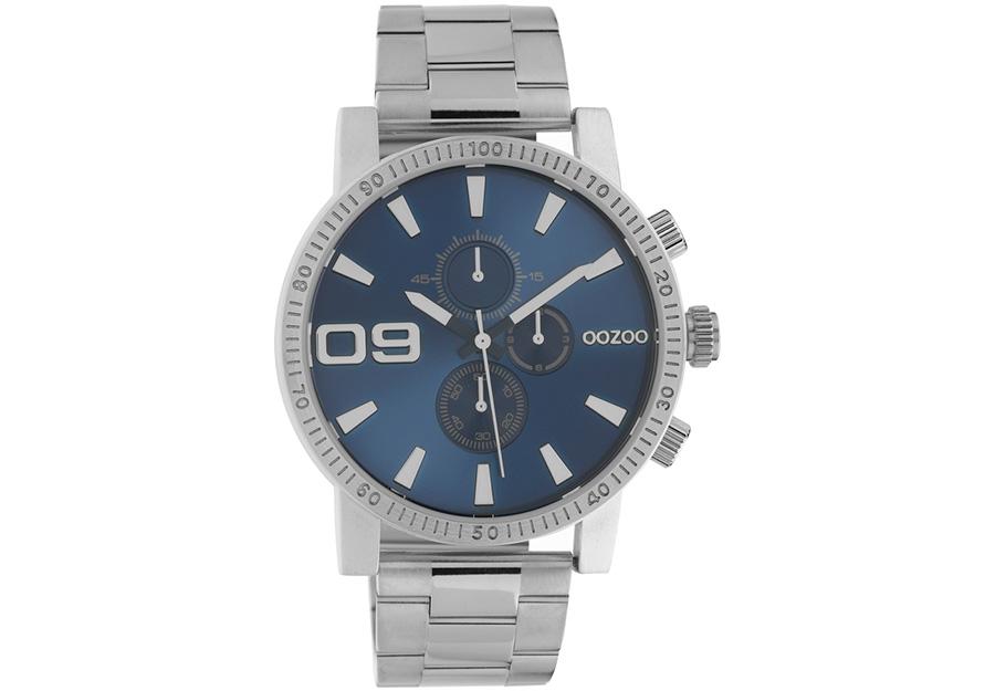 OOZOO Timepieces Chronograph Silver Metallic Bracelet C10705