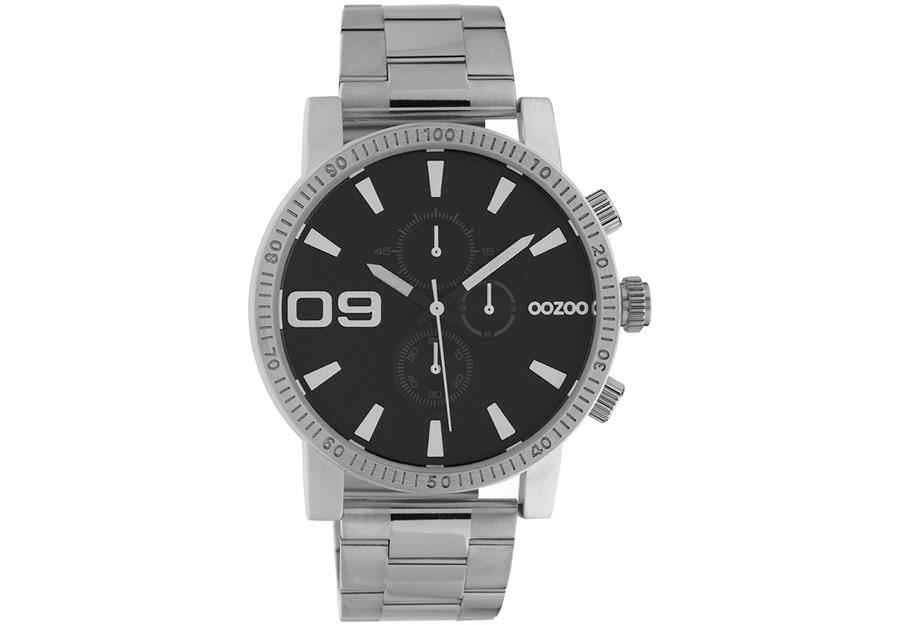 OOZOO Timepieces Chronograph Silver Metallic Bracelet C10706