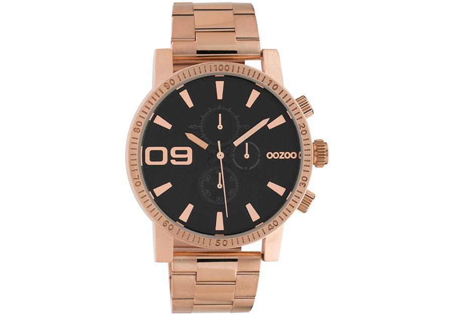 OOZOO Timepieces Chronograph Rose Gold Metallic Bracelet C10708