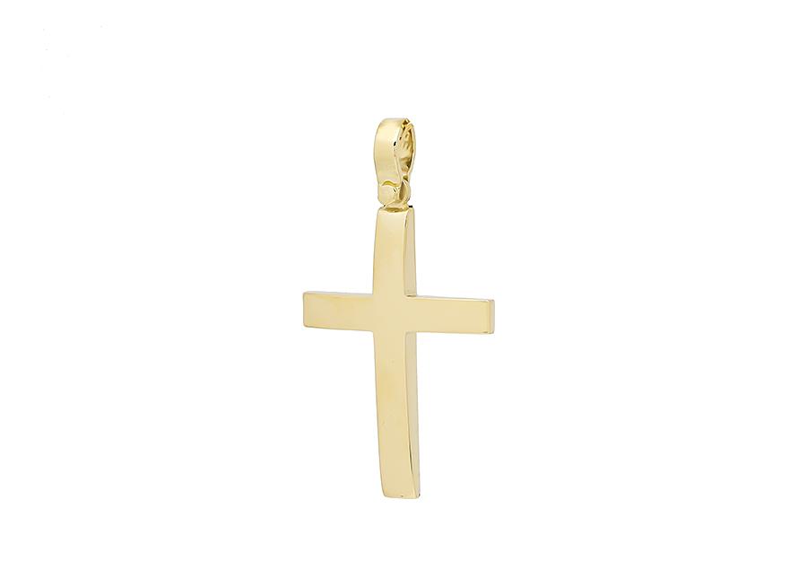 Βαπτιστικός Χρυσός Σταυρος κ14 C370.32