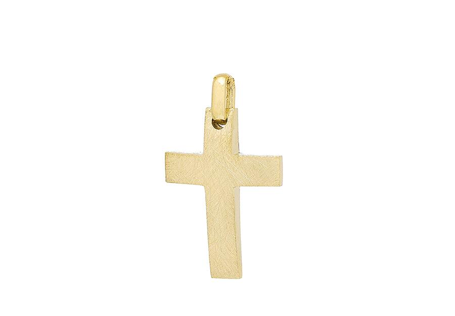 Βαπτιστικός Χρυσός Σταυρος κ14 C384.32