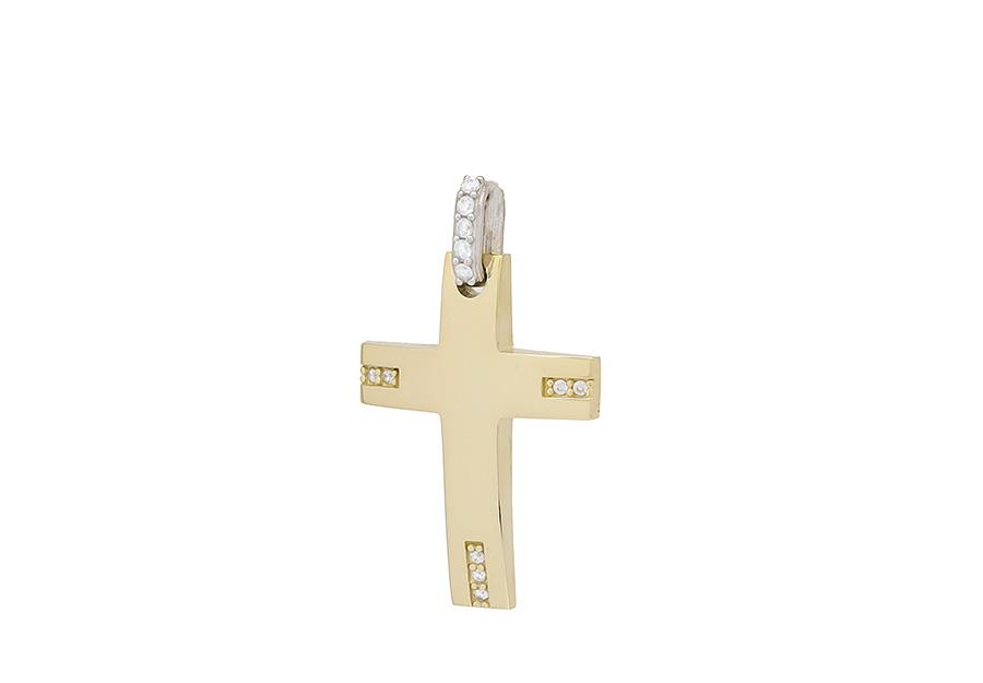 Βαπτιστικός Χρυσός Σταυρος κ14 C397.32
