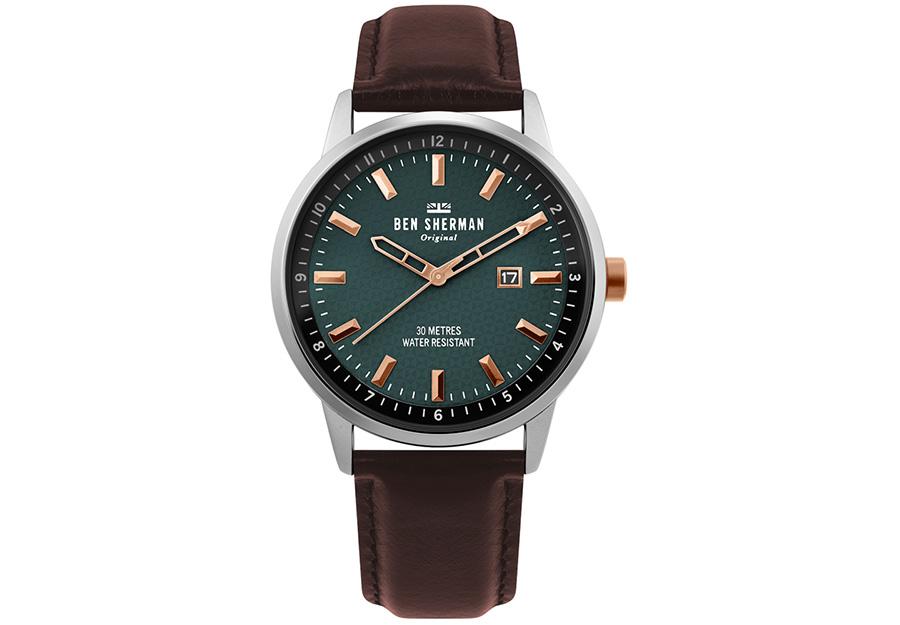 BEN SHERMAN Daltrey Professional Brown Leather Strap WB030NT